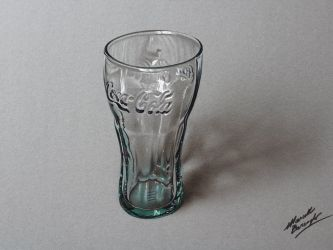Coca-Cola Green Glass DRAWING by Marcello Barenghi by marcellobarenghi