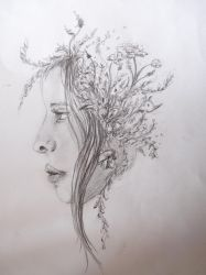 Sketch for One with Nature by Rominique