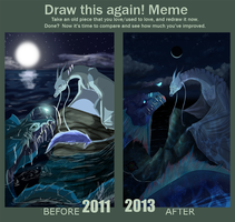 Draw this again meme : The last tears. by Kamzeia-MS