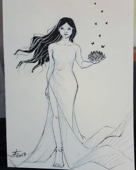 ink drawing  by Leilyandra