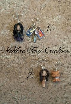 Dolls Earrings Polymer Clay by Nakihra