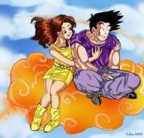 Goten and Paresu by Oolong-sama