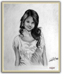 just little try to draw selena by sagarlike