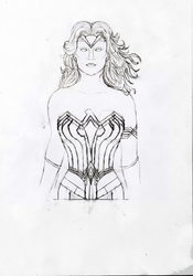 [Sketch] Wonder Woman by RocketDesignRE