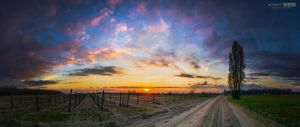 The last weekend of March beautiful sunset farewel by NorbertKocsis