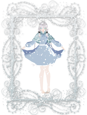 - Winter/x-mas collab - My part - Blue by Meibel