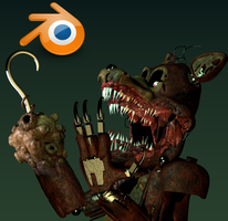 Twisted Foxy Teaser Remake + Blender Relese. by HayStudios