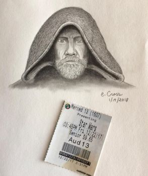 Ticket stub and Art: The Last Jedi by ElvenWarrior14