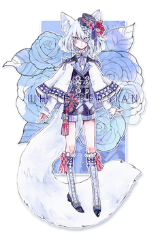 [Closed] Adopt Auction - White Persian Cat by Yingrutai