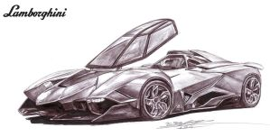 Lamborghini Egoista Single Seater Drawing by toyonda