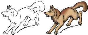 Free Lineart Canine (Please read the Rules!) by Schneeauge