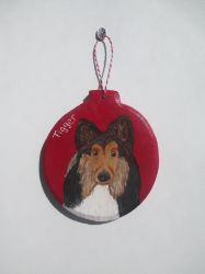 Collie Ornament by MadalynC
