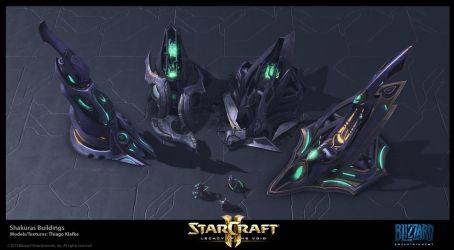Starcraft II LotV -  Shakuras Buildings by thiagoklafke