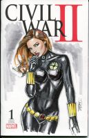 Avenger's Black Widow by Artfulcurves