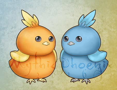 Bby Phoenixes by MythicPhoenix