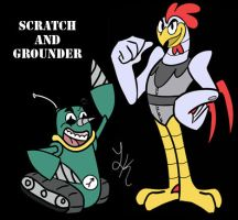 Scratch and Grounder by razorcat