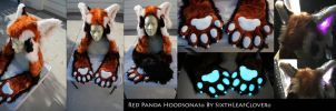 The Red Panda LED Hoodsonas by The-SixthLeafClover