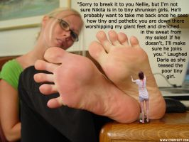 Foot Pet to Boyfriend's Evil Ex by youranus32