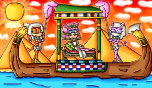 Amy the Queen of the Nile by ninpeachlover