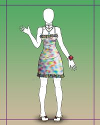 [OPEN] Fashion Adopt 3 - Painted Easter Dress 800p by Lyrizel