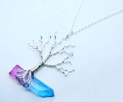 Wire Wrap Crystal Tree of Life Pendant /w Necklace by Create-A-Pendant