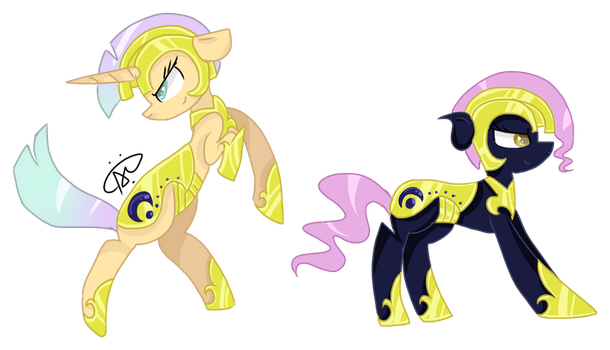 (Reformed) Captain Astrea and Lieutenant Fairydust by ThePegasisterPony