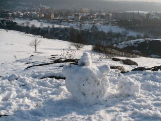 Impaired snowman by marmota-b