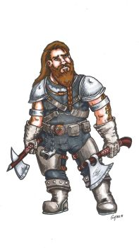 Dwarven Ranger Color by Syreene