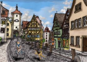 Rothenburg Scene by smaragdweiss