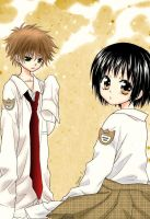 Usui and Misaki chibis~~ by zechan1