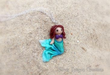 Polymer Clay Mermaid Necklace for #MerMay by Euphyley