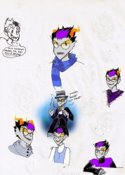 Eridan Doodles by Napkinmouse