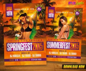 Spring / Summer Fest Party Flyer by KoolGfx