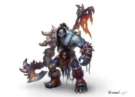 Undead Grommash Hellscream by birdman03