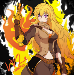 ''Yang Xiao Long'' RWBY Fan art by LuluSensei