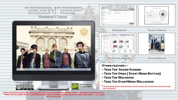 [2013 Theme ] Teen Top Kpop for Windows 7 by HKK98