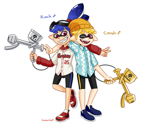 The Aerospray Bros. by KumariKat