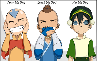 Hear no Evil Speak no Evil See no Evil by Goldfish-24-7