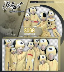#110 | PACK PNG | Suga | BTS by jellycxt