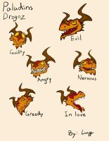 Paladins drogoz facial expressions! by lucyelephant1217