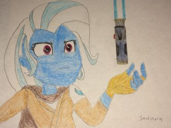 [Drawing] Jedi Master Trixie by Sandstorm-Arts