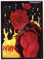 Akuma sketch card by dadicus