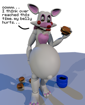 Mangle with a big stuffed belly (read desc.) by hi2031
