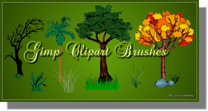 Gimp Clipart Brushes by Geosammy