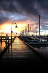 HDR - Sunset On Pier by riztwist