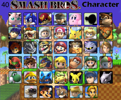 Top 40 Smash Bros Characters by Stocking-Star