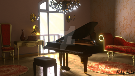 3D piano room by M-Ehab
