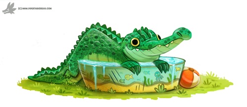 Daily Painting #955. If it fits, I sits (OG) by Cryptid-Creations