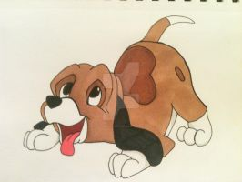 Copper (the fox and the hound) by AlPendragon