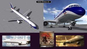 Boeing 757 Delta Airlines 2  by iconkid